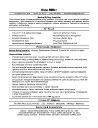 resume help for medical billing duties of medical biller