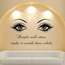 <b>Wall Decal</b> Quote <b>Beauty</b> Salon Make-Up Girl Woman Decals <b>Vinyl</b> ...