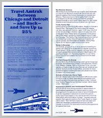 chicago detroit service discount fares flyer amtrak date archived 13 2014 geography midwest decade 1970s data format image route michigan services date created 1977