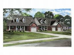 Multi Family House Plans  Triplexes  amp  Townhouses   The House Plan ShopPlan M
