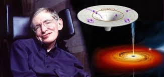 don    t look at black holes too closely  they might disappear    dr  stephen hawking of cambridge university alongside illustrations of a black hole and an event