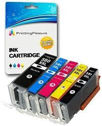 SET of <b>5</b> Compatible <b>PGI</b>-<b>580</b>/CLI-581 XXL Printer Ink Cartridges for ...