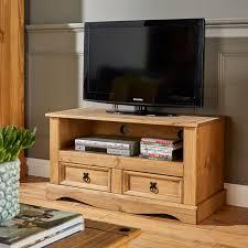 <b>TV Stand</b> Solid Pine Corona Wide <b>Television Cabinet</b> Flat Screen ...