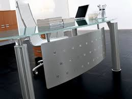 stylish impressive adorable home office design idea with frozen blue glass desk adorable home office desk