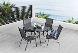BLACK SAILOR <b>5 Piece Outdoor</b> Setting | Amart Furniture