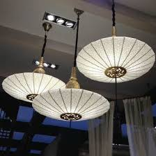 asian pendant lighting. antique parchment shade and golden cap chandelier asianpendantlighting asian pendant lighting e