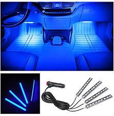 HUSTON LOWELL 4pcs <b>Car LED</b> Strip <b>Lights Interior</b> Decorative ...