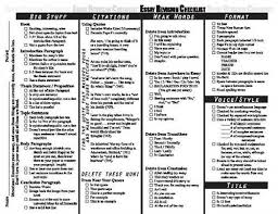 essay revision checklist  essay revision persuasive essay revising checklist   summit public schools