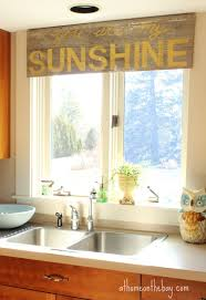 sink windows window love: a wooden valance wooden valance diy a wooden valance