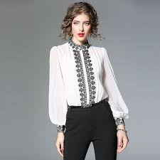 Office Lady Elegant Chiffon Blouses <b>New Brand</b> 2018 Autumn ...