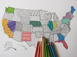 Small Picture Adult Coloring Poster United States Map Adult Coloring