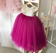 Burgundy flower girl <b>dresses</b> for <b>weddings</b> gold sequin <b>puffy princess</b> k