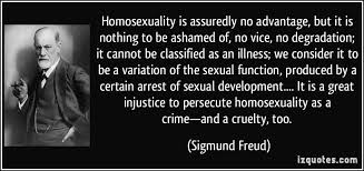 Homosexuality is assuredly no advantage, but it is nothing to be ...