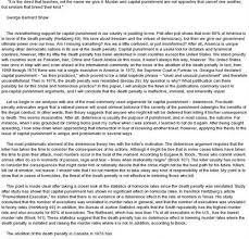 for and against capital punishment philosophy essay quot essay  arguments against the death penalty  quot