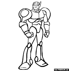 Small Picture Mister Robot Coloring Page Free Mister Robot Online Coloring