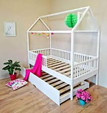 <b>Little Village</b> Cabin Bed with 4 Detachable Rails and Pull-Out Extra ...