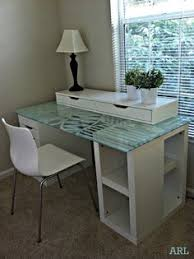 beautiful glass topped ikea desk hack beautiful office desk glass