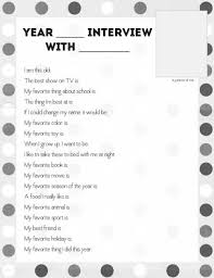 Year-End (or Birthday) Interview Questions for Kids to Answer Download the free printable of interview questions for kids to answer at the end of the
