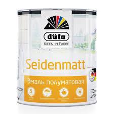 <b>Эмаль универсальная Dufa</b> Retail Seidenmatt полуматовая белая ...