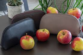 Apple Leather Toiletry bag / <b>Pencil Case</b> - Interall