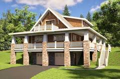Drive Under House Plans   Home Designs   Garage Below