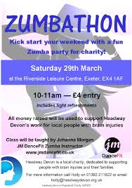 use one image in different colors at the top and then a color fundraising zumba party saturday for an hour long class johanna morgan of jm dancefit flyer