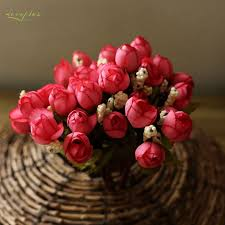 Zinmol Silk Rose Flower <b>Artificial</b> Flowers Vivid <b>Fake</b> Leaf for Home ...