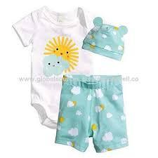 China <b>High Quality</b> Baby Summer Clothing <b>3pcs</b> Set, Bodysuit+ ...