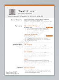 resume examples  great  ms word resume templates        resume examples  career objective experience technical skills php language education good resume template word creative