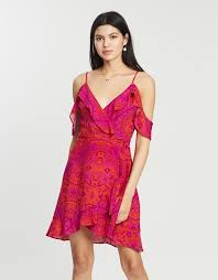 Cabana <b>Cold</b>-<b>Shoulder Ruffle</b> Dress by Dazie Online | THE ICONIC ...