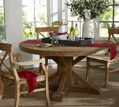 kitchen pedestal dining table set: benchwright fixed pedestal dining table wax pine finish pottery barn