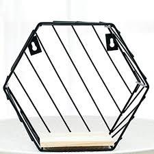 DGJEL <b>Iron Hexagonal Grid Wall</b> Storage Shelf Combination Wall ...