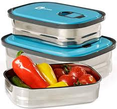Amazon.com: Bento Lunch <b>Box</b> Food Container Storage Set 3 In <b>1</b> ...