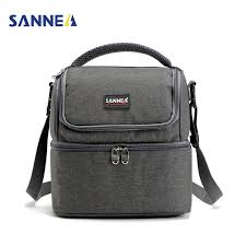 <b>SANNE 7L Double</b> Decker Cooler Lunch Bags Insulated Solid ...