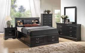 bedroom set main: queen bedroom set with storage headboard