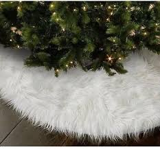 30inch Round Christmas Tree Skirt <b>Faux Fur Ornament Xmas</b> Party ...