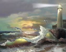 paint bedroom photos baadb w h: landscapes white lighthouse kitchen room bedroom realism oil painting