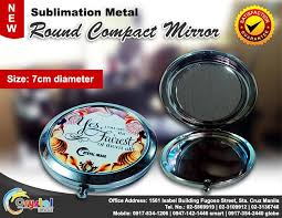 Sublimation Metal <b>Round</b> Compact Mirror Your one stop shop ...