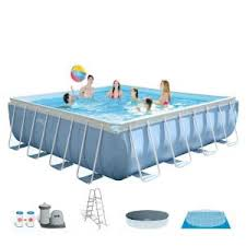 <b>Intex Prism Frame</b> 16 ft. x 48 in. Above Ground Pool with Pump and ...