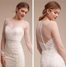 Elegant <b>White</b>/Ivory <b>Wedding Bridal Bolero Jacket</b> Lace <b>Tulle</b> Long ...
