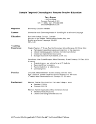 example resume teachers objectives nice education or license for gallery of example resume for teachers