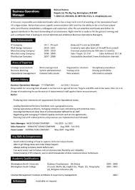 business operations manager resume examples  cv  templates  samplesbusiness operations manager resume