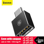 <b>Baseus TYPE C Male</b> to USB Female Cable Adapter Converter For ...