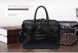 <b>JOYIR Business Briefcase Genuine</b> Leather Men Bag Computer ...