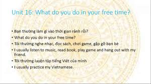 learn viet se in 2 minute unit 16 what do you do in your learn viet se in 2 minute unit 16 what do you do in your time