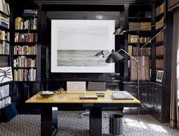 interior beautiful sea picture side book shelf inside small office ideas with laptop on square black home office laptop