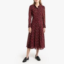 <b>Платье</b>-<b>рубашка</b> с рисунком и длинными рукавами рисунок/фон ...