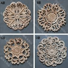 circle door decoration applique fashion furniture cabinet door kidney wood carvedchina mainland appliques for furniture