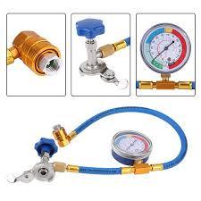 TOPINCN <b>R134A</b> R12 Fitting Recharge <b>Measuring</b> Hose Gauge ...