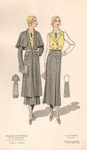 French 1930s <b>Fashion Design Vintage</b> Print | Art | 1930s <b>fashion</b> ...